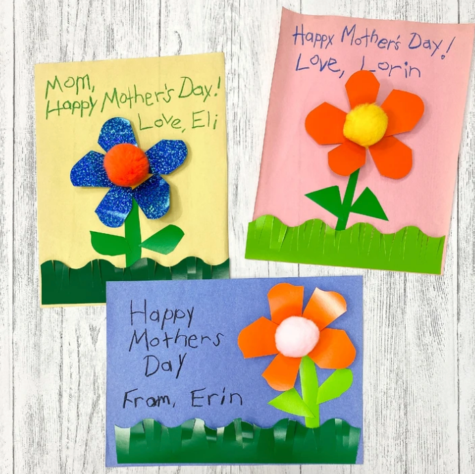 Easy Mother's Day project DIY Flower card