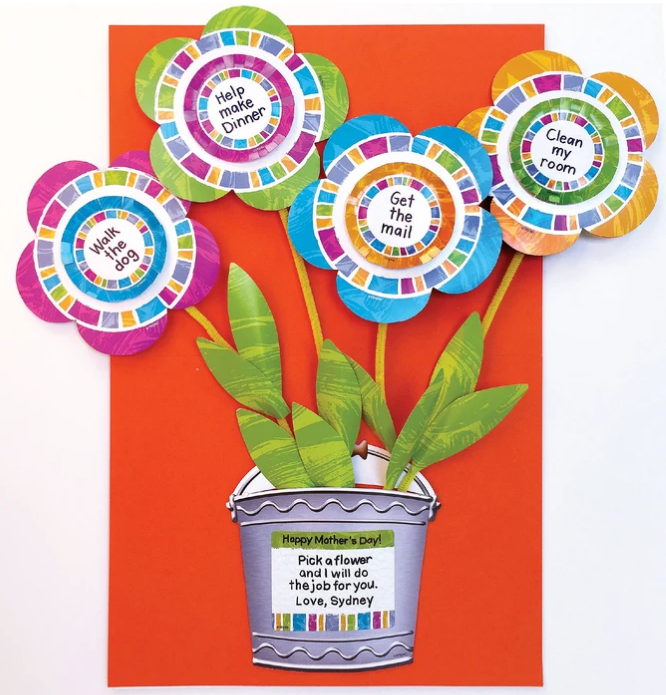 Chore Coupons to make for Mother's Day kid project DIY Flower Power