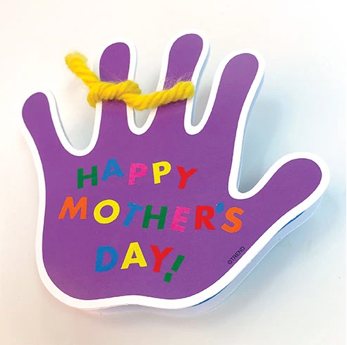 How to make a folding card for Mother's Day kid project DIY free instructions