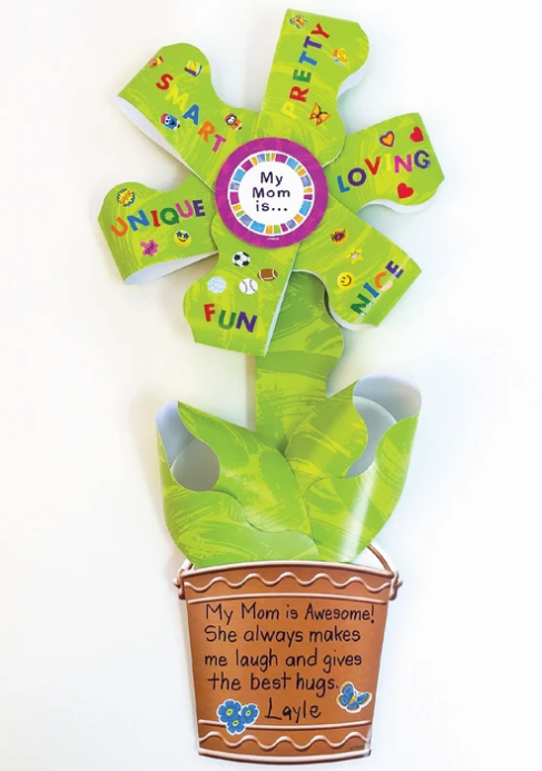 Mother's Day gift ideas for kids to make free DIY instructions Petal Praise paper flower
