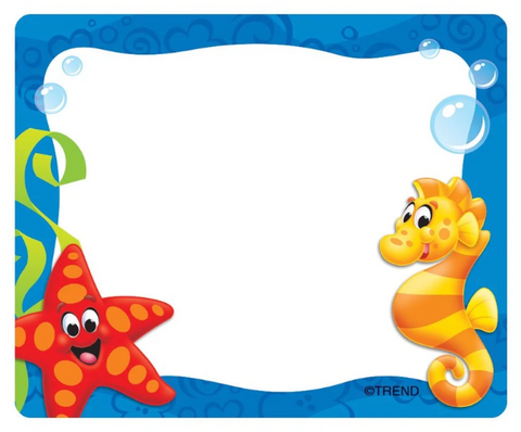 Sea Buddies® Terrific Labels™ Name Tags
