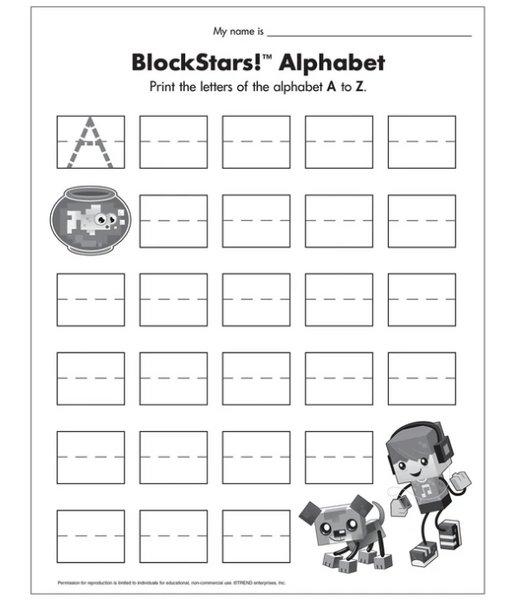BlockStars!® Alphabet Free Printable