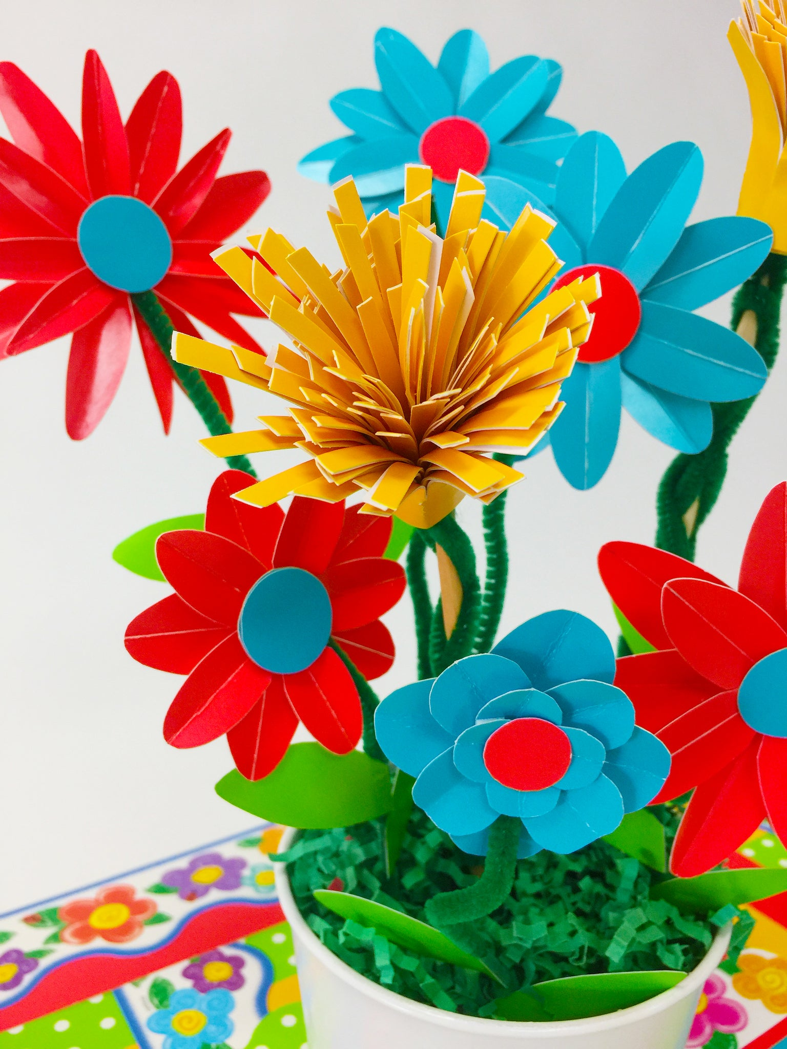 Paper flower bouquet diy for spring