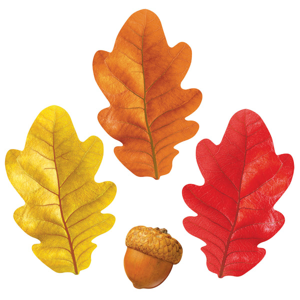 fake paper fall leaves for projects acorns diy craft supplies oak
