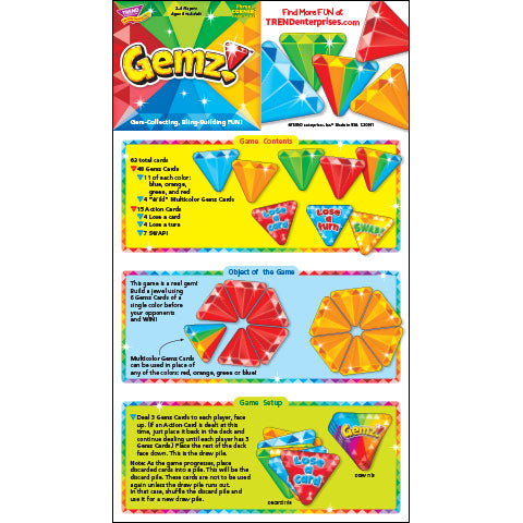 Gemz! Card Game Instructions