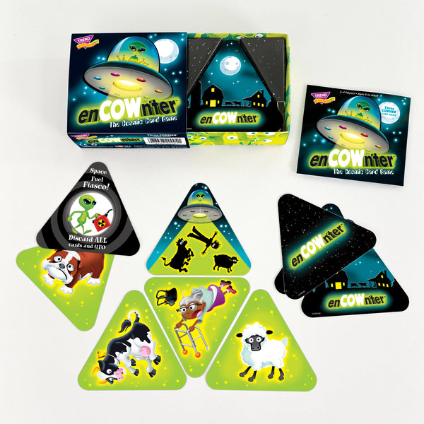 enCOWnters™ fun alien abduction card game for families at home during pandemic