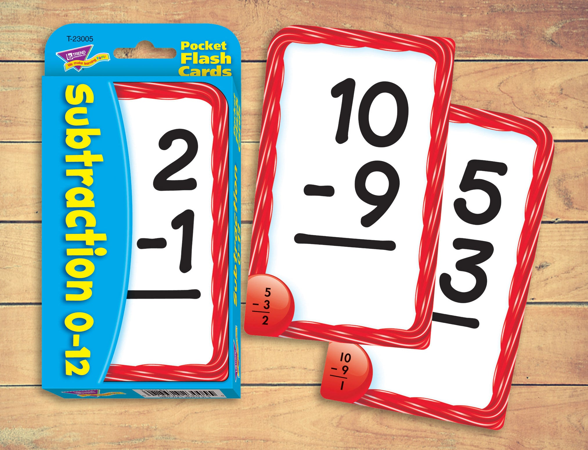 Subtraction flash cards for at home distance learning school teacher supplies made in USA