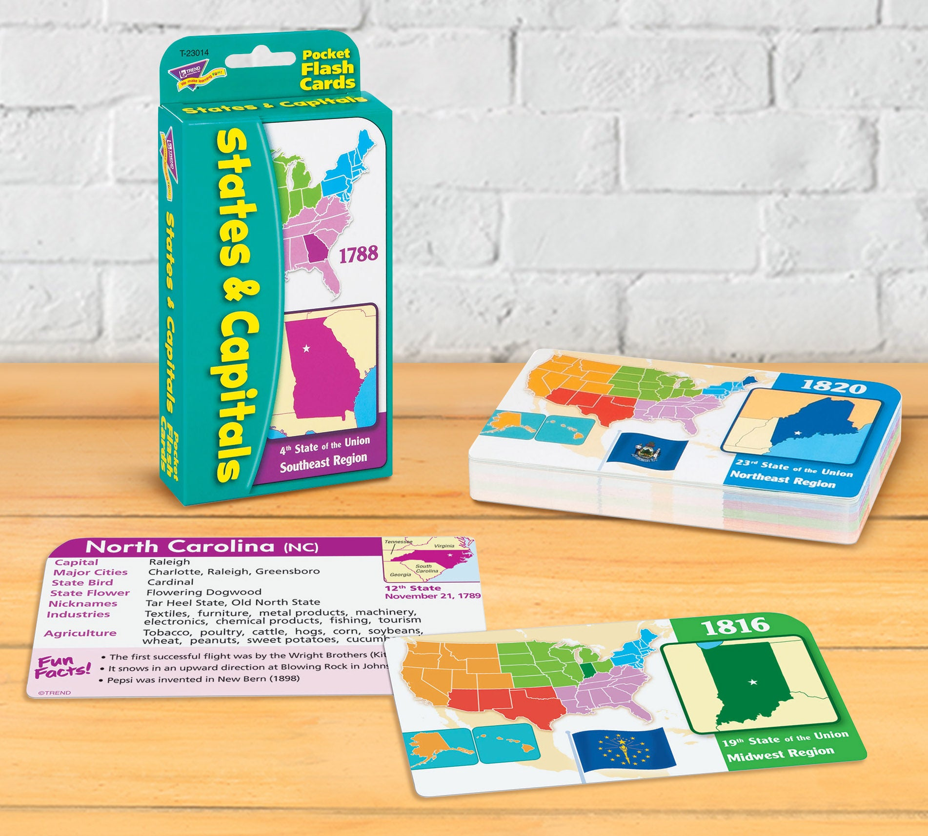 United States Capitals Flash Cards for distance learning homeschool