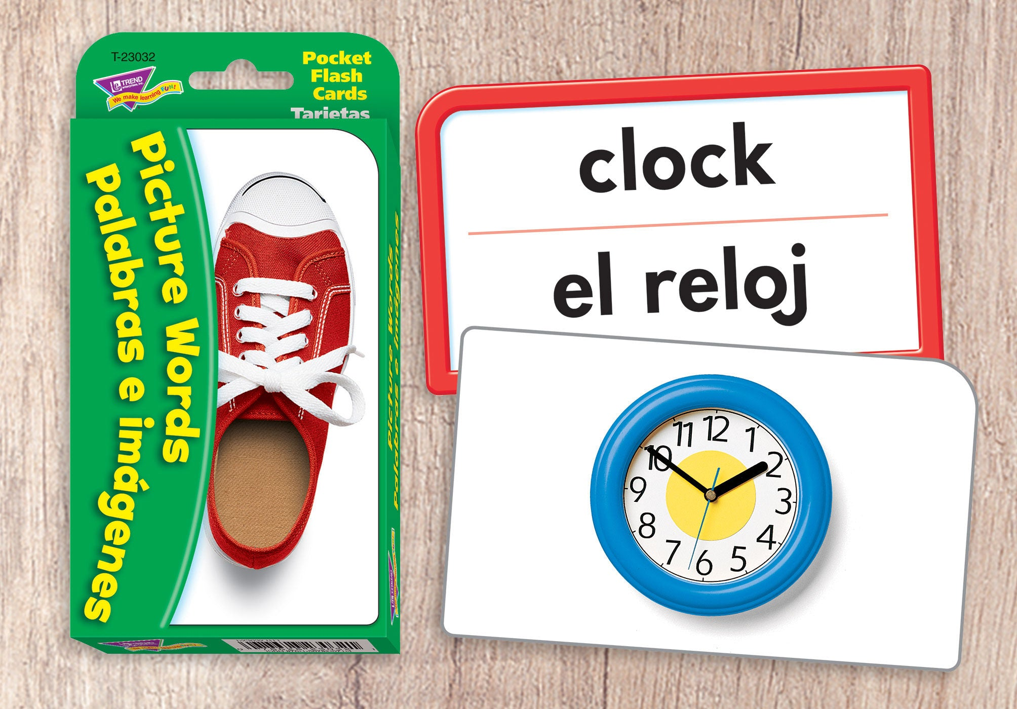 Picture Words/Palabras e imágenes (English/Spanish) Pocket Flash Cards made in USA