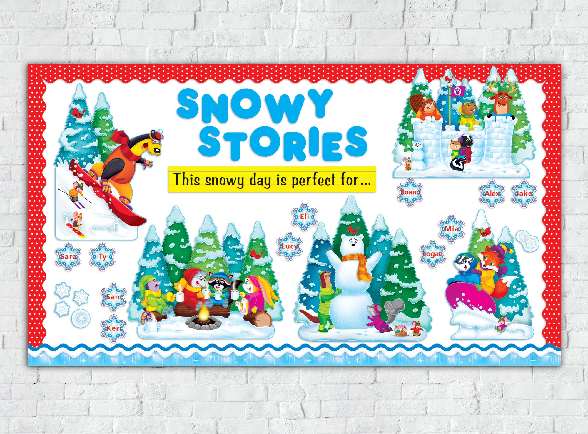Wonderful Winter Snowy Stories Bulletin Board Idea
