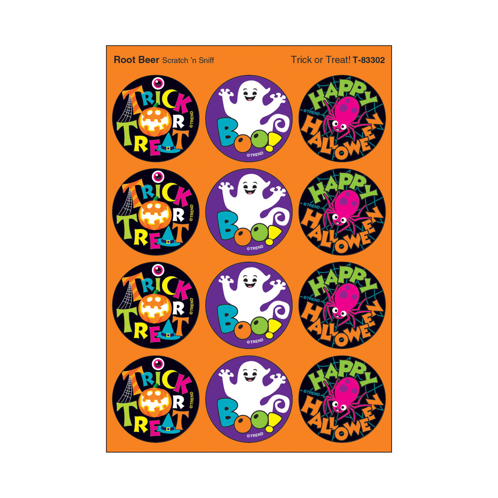 teal pumpkin project non-food treats food allergy friendly halloween teacher supplies classroom party stickers scratch 'n sniff root beer scent