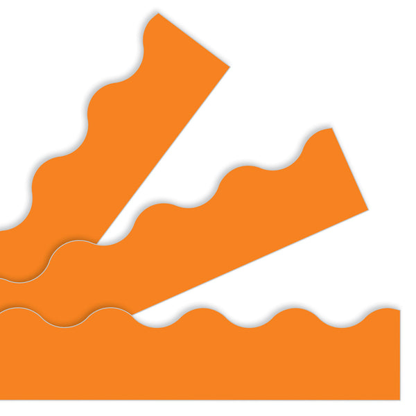 solid orange paper border trimmer bulletin board decoration