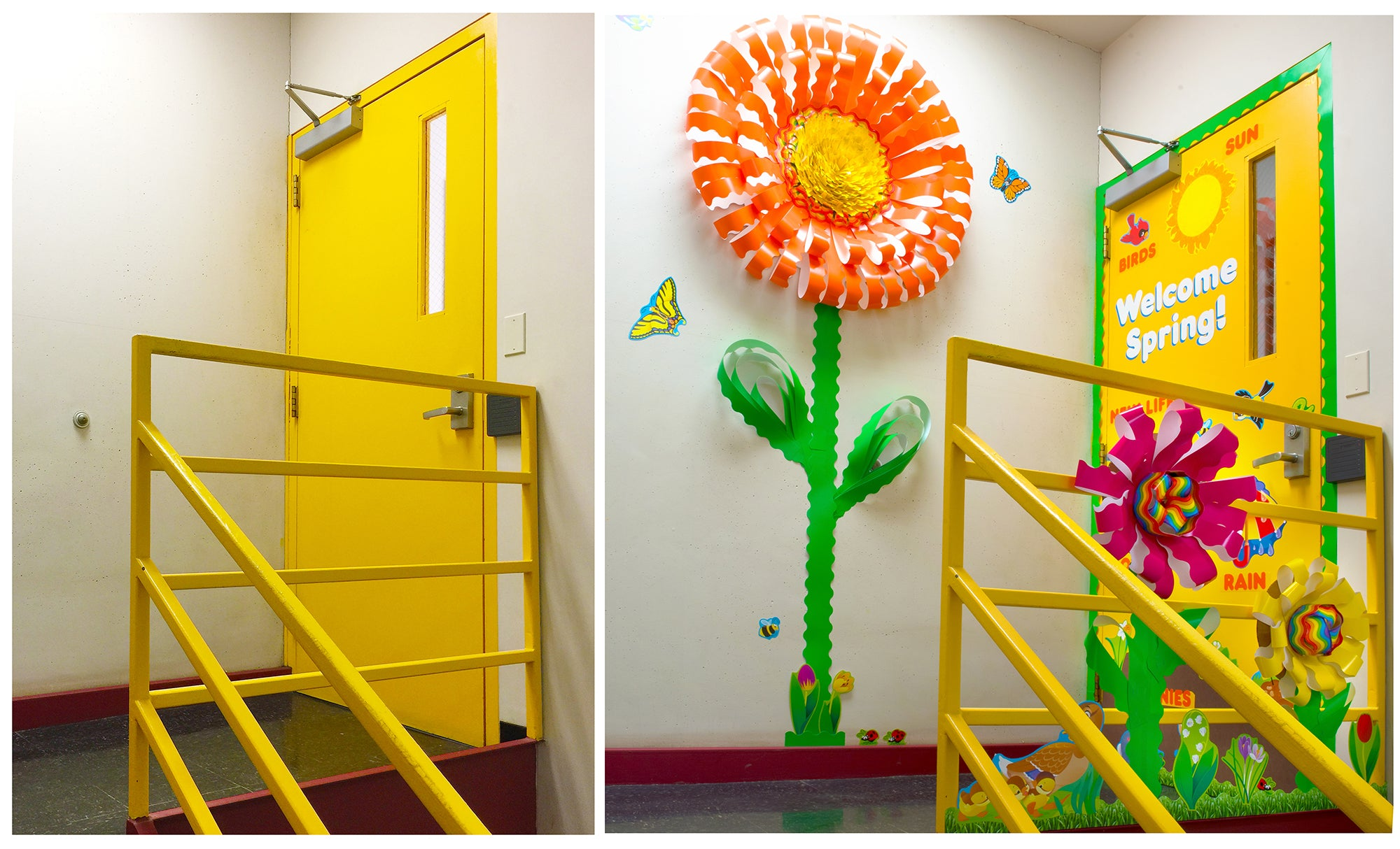 before and after stairwell makeover spring decorations trend
