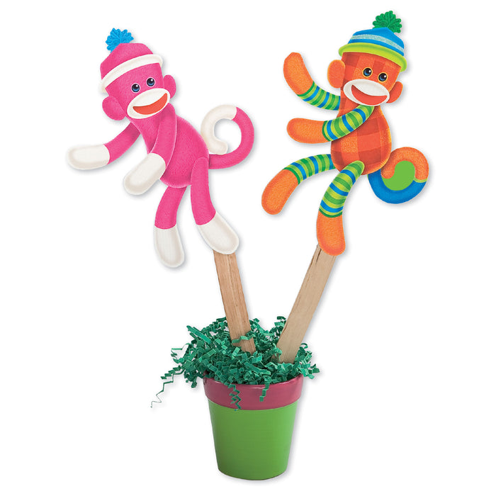 A0991 Sock Monkey Puppets Learning Fun Activity