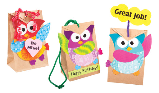 A0999 Learning FUN Activity Owl-Standing Treat Bags
