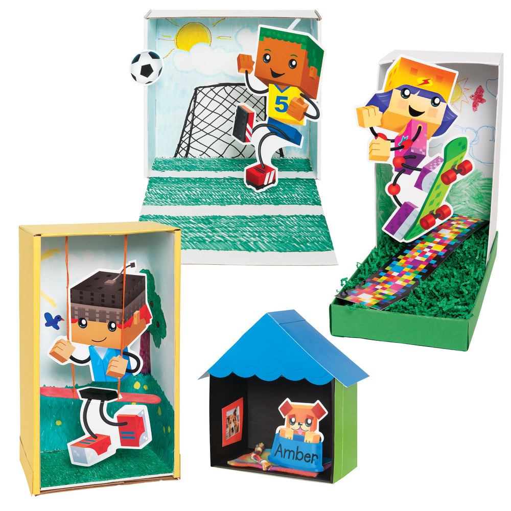 A1031 Blocky Town Learning FUN Activity