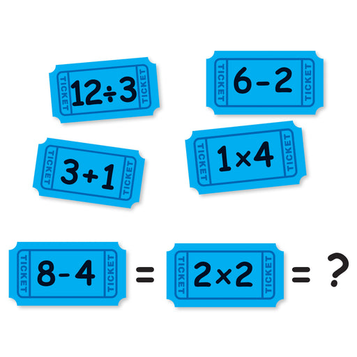 A1078 Math Ticket Match-Up Learning FUN Activity