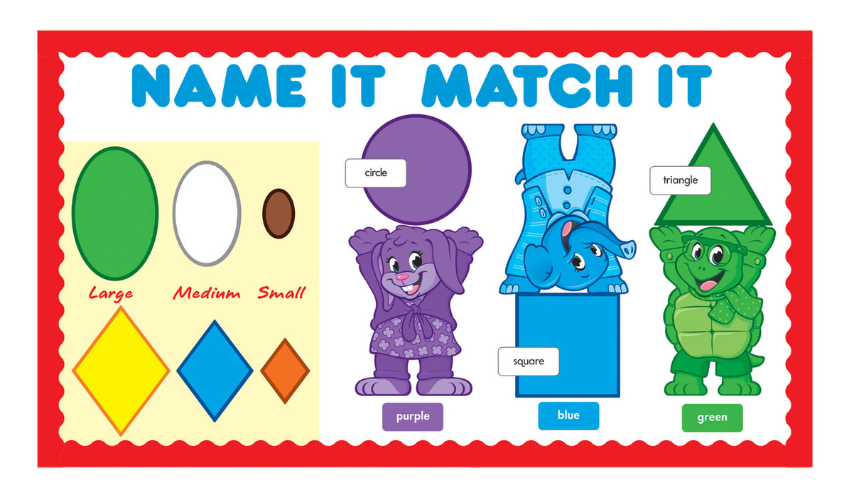 D8010 Colors & Shapes Name It Match It Bulletin Board Idea