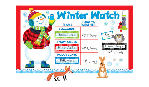 D8127 Super Snowman Winter Watch Bulletin Board Idea