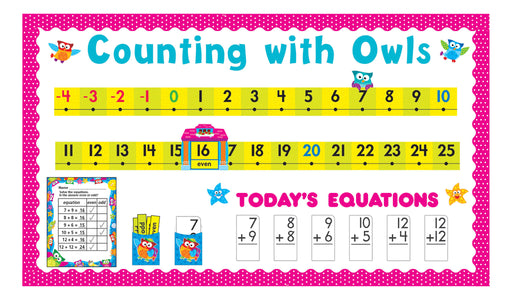 D8299 Owl-Stars!® Number Line Counting with Owls Bulletin Board Idea