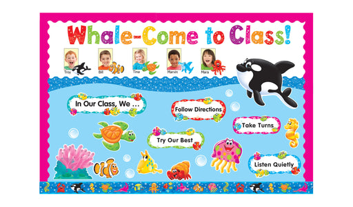 D8304 Sea Buddies™ Whale-come to Class! Bulletin Board Idea