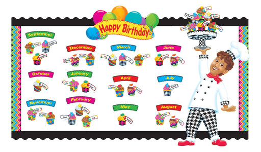D8350 Happy Birthday Bake Shop™ Birthday Board Bulletin Board Idea