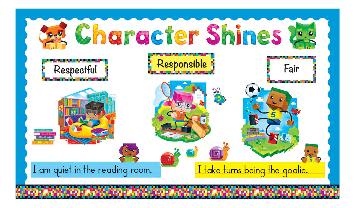 D8380 BlockStars!® Character Shines Bulletin Board Idea