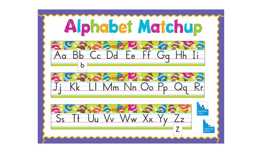 D8415 Sock Monkeys Alphabet Line Matchup Bulletin Board Idea