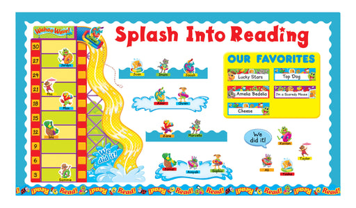 Playtime Pals™ Goal-setting Adventures Splash Into Reading Bulletin Board Idea