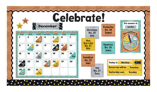 D8425 I ♥ Metal™ Calendar Celebrate! Bulletin Board Idea