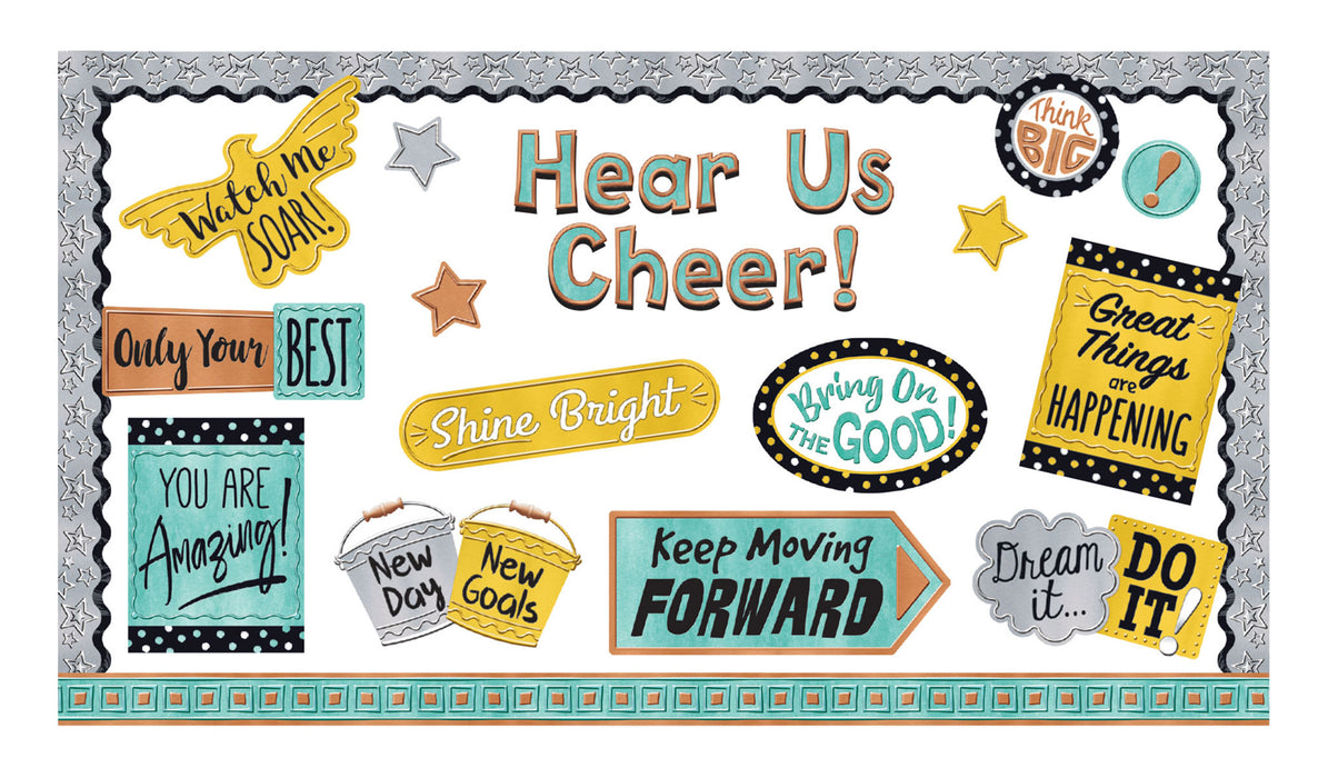 D8426 I ♥ Metal™ Phrases Hear Us Cheer! Bulletin Board Idea