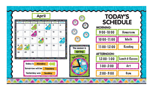 D8430 Color Harmony Calendar Todays Schedule Bulletin Board Idea