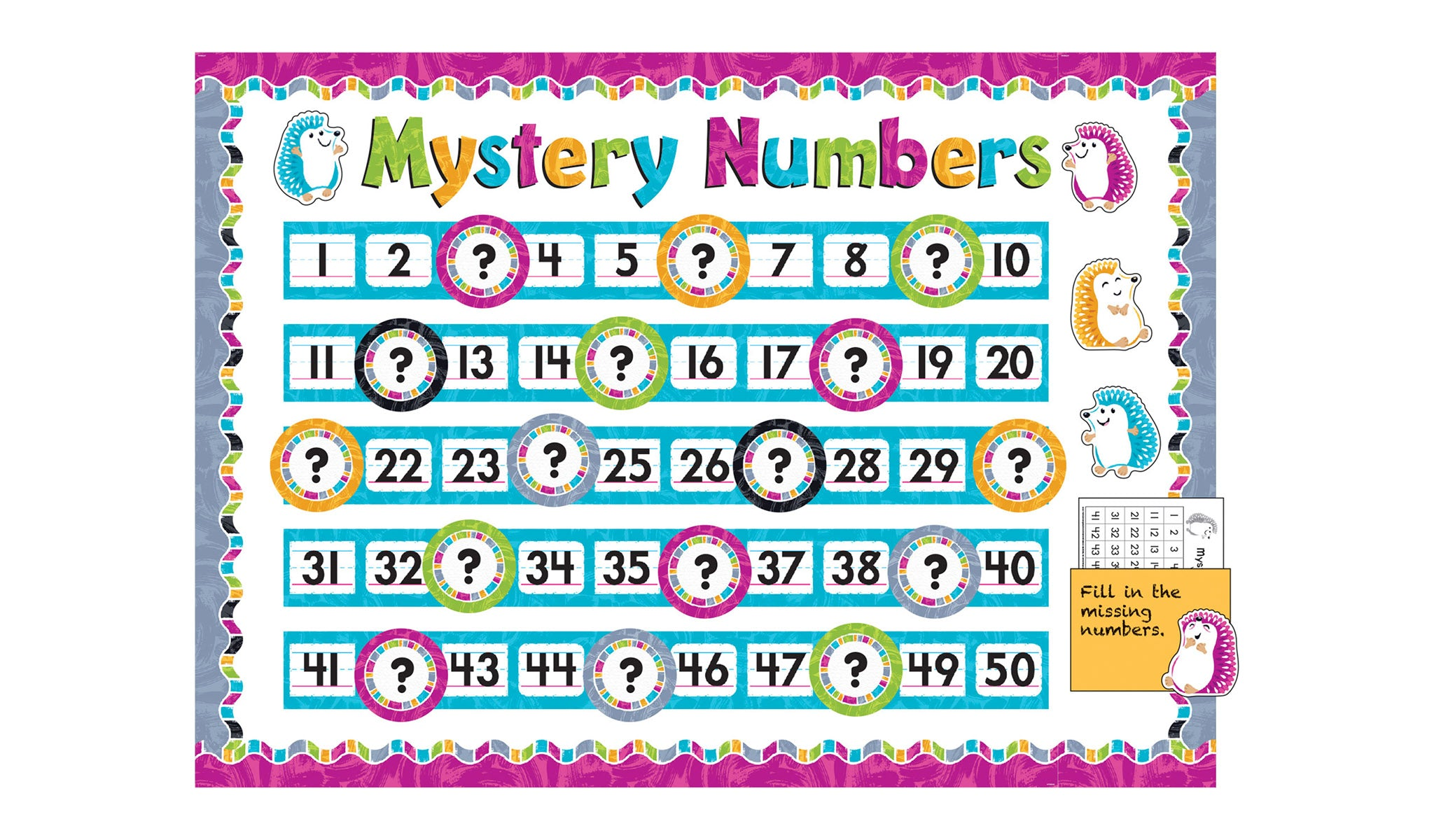 Color Harmony™ Number Line 0-120 Bulletin Board Idea
