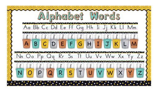 D8771 I ♥ Metal™ Alphabet Line Standard Manuscript Bulletin Board Idea