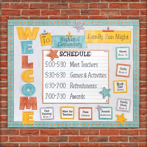 D8772 Welcome Family Night Bulletin Board Idea
