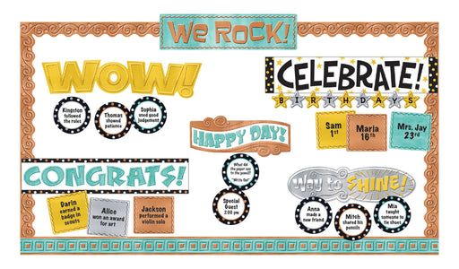 D8773 I ♥ Metal™ Wipe-Off® Celebration Signs Bulletin Board Idea