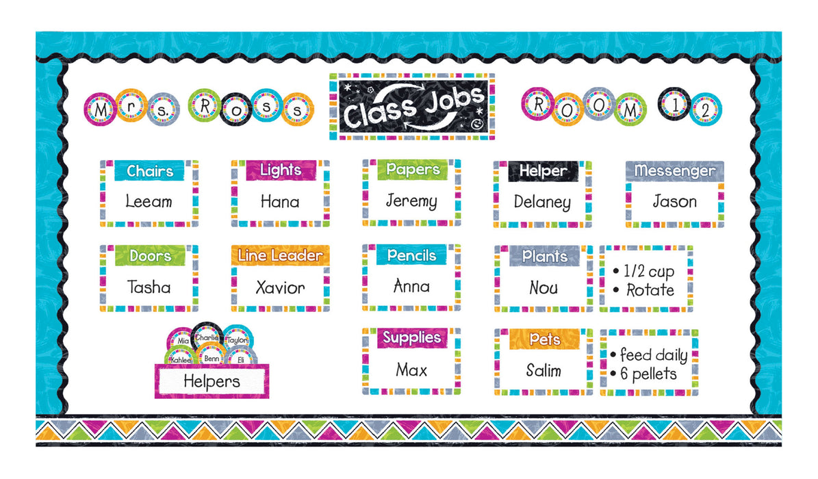D8780 Color Harmony™ Wipe-Off® Class Jobs Bulletin Board Idea