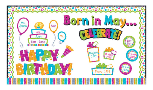 D8781 Color Harmony™ Wipe-Off® Happy Birthday Bulletin Board Idea