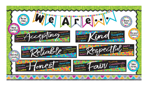 D8782 Color Harmony™ Character Traits Bulletin Board Idea