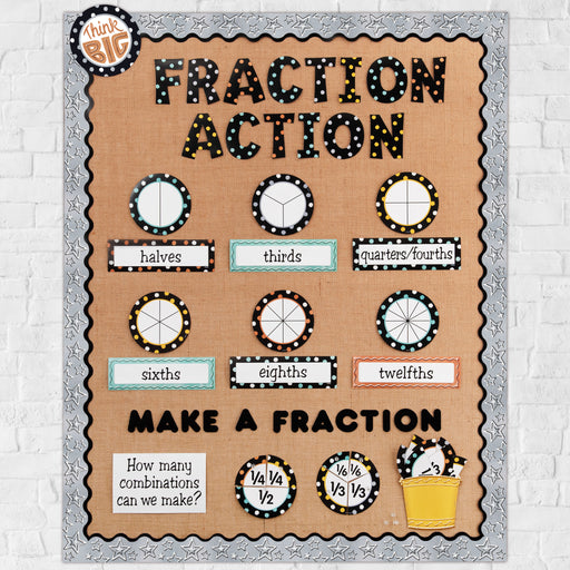 D9101 Fraction Action Bulletin Board Idea