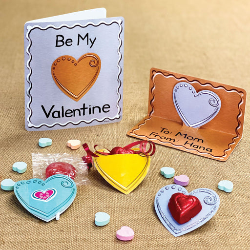 Metal Hearts Valentines Cards