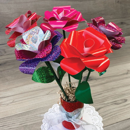 Trimmer Red Pink Sparkle Valentine Roses DIY