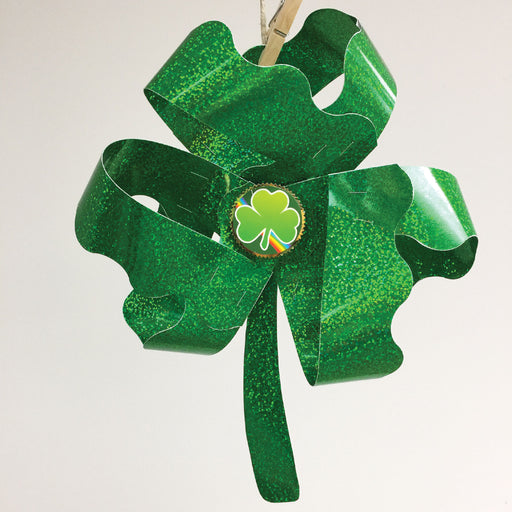 St. Patrick's Day Sparkle Shamrock DIY