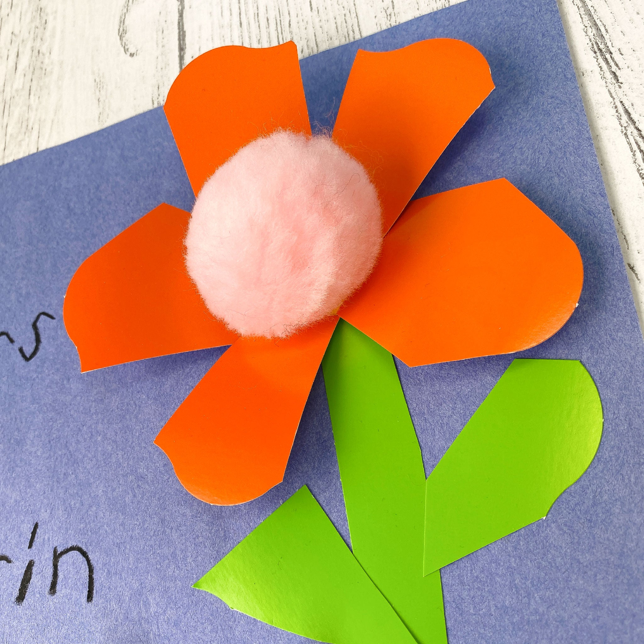 DIY158 Mothers Day Kid Craft Flowers
