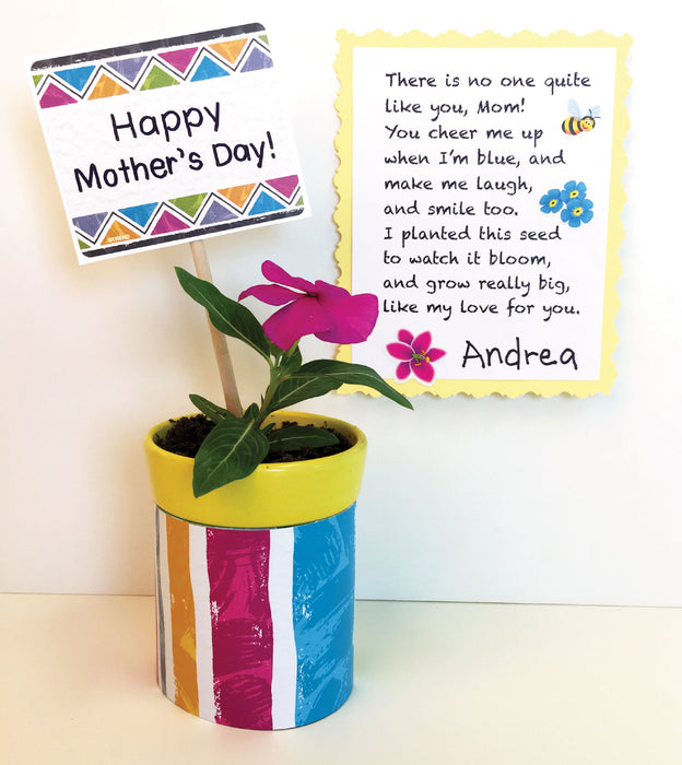 Mothers Day Poem and Planter