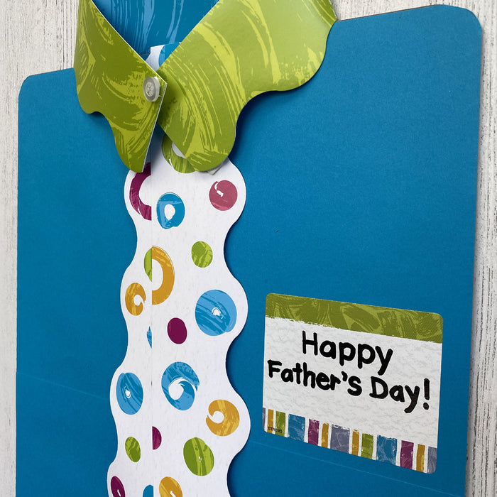 Shirt and Tie Fathers Day Card DIY