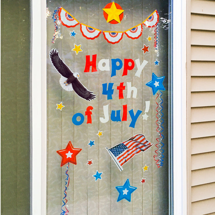 Patriotic Window Decorations DIY