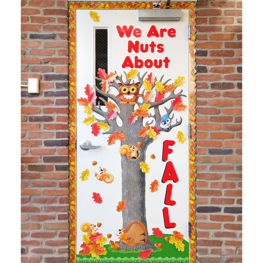 Nuts About Fall Door Decor DIY