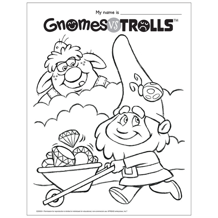 Gnomes vs Trolls Coloring Page Free Printable