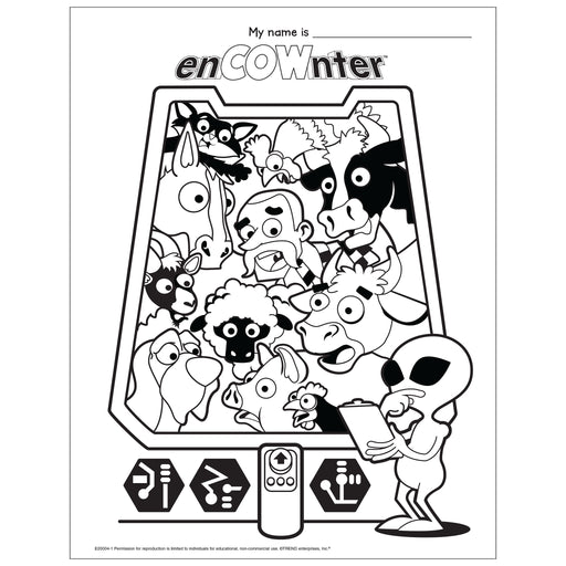 enCOWnter Coloring Page Free Printable
